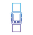 smart watch isolated icon vector image