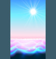 sun and water paradise background magic ripple vector image