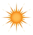Sun over white - vector image