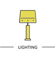 table lamp lighting line icon for web vector image