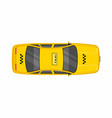 taxi car top view vector image