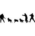 terrorist silhouette vector image