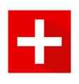 the flag of switzerland vector image