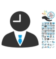 Time Manager Icon With 2017 Year Bonus Symbols vector image vector image