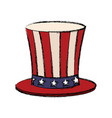 top hat with flag american color vector image