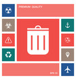 trash can icon elements for your design vector image