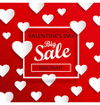 valentines day big sale background vector image vector image