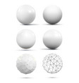 various white spheres vector image vector image