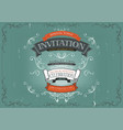 vintage invitation poster background vector image vector image