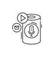 voice assistant line icon concept voice assistant vector image