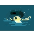 Whale design flat vector image