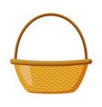 wicker basket picnic vector image