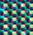 hipster squares seamless pattern with grunge vector image
