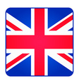 Great Britain United Kingdom flag Square shape vector image