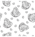 Cookie siamless pattern vector image