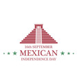 Independence Day Mexico vector image