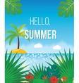 Summer beach background vector image