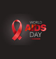 aids awareness symbol world aids day concept with vector image vector image