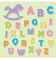 alphabet letters for kids vector image vector image