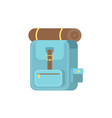 bag pack icon flat design camping equipment vector image vector image