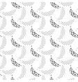 banana pop art seamless pattern black and vector image