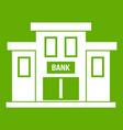 bank building icon green vector image vector image