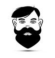 Beard face man avatar male icon
