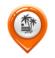 brighted map marker vector image vector image