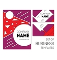 business templates set vector image