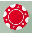 Casino gambling chip flat icon vector image vector image