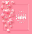 christmas pink baubles with geometric pattern 3d vector image vector image