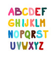 colorful alphabet isolated on white background vector image vector image