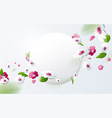 colorful flower with round banner vector image vector image