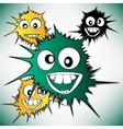 Crazy furry funny face cartoon design background vector image