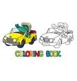 Crocodile-driver Coloring book vector image