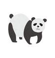 cute panda bear standing on four legs happy vector image