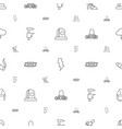 danger icons pattern seamless white background vector image vector image
