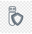 data protection concept linear icon isolated on vector image
