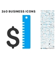 Dollar Rate Icon with Flat Set vector image