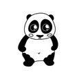 doodle panda character vector image vector image