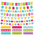 Easter decoration set vector image vector image