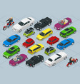 flat 3d isometric high quality city transport car vector image vector image