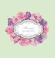flower boder floral frame flourish greeting card vector image vector image