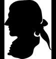 George Washington silhouette vector image vector image