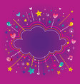 happy fun bursts explosion cartoon cloud shape ban vector image vector image