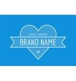 Hipster modern heart thin style logo vector image vector image