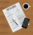 hired and employment view vector image vector image