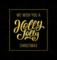 holly jolly christmas greeting card vector image