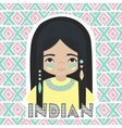 Indians Girl vector image vector image