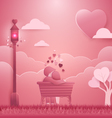 Invitation card Valentines day background vector image